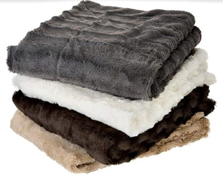 Faux Fur Blanket gift Overstock