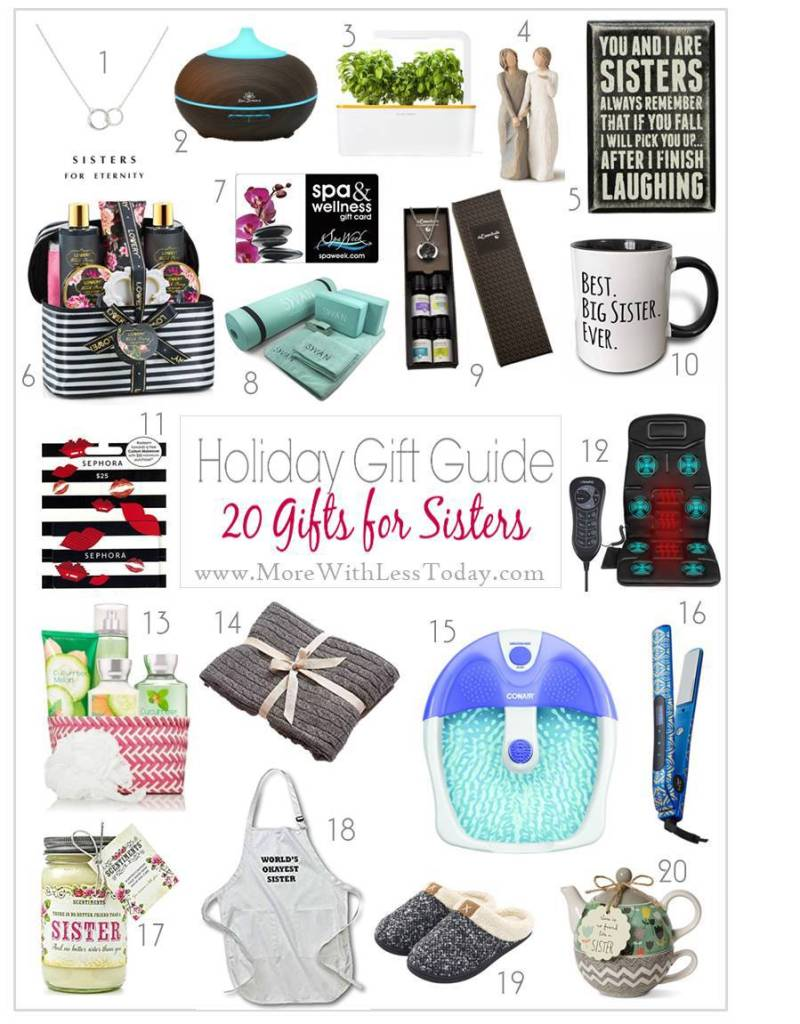 Are you looking for a special gift for a sister or girlfriend? Check out our Gift Guide for Sisters and Girl Friends - Gifts She Will Love!