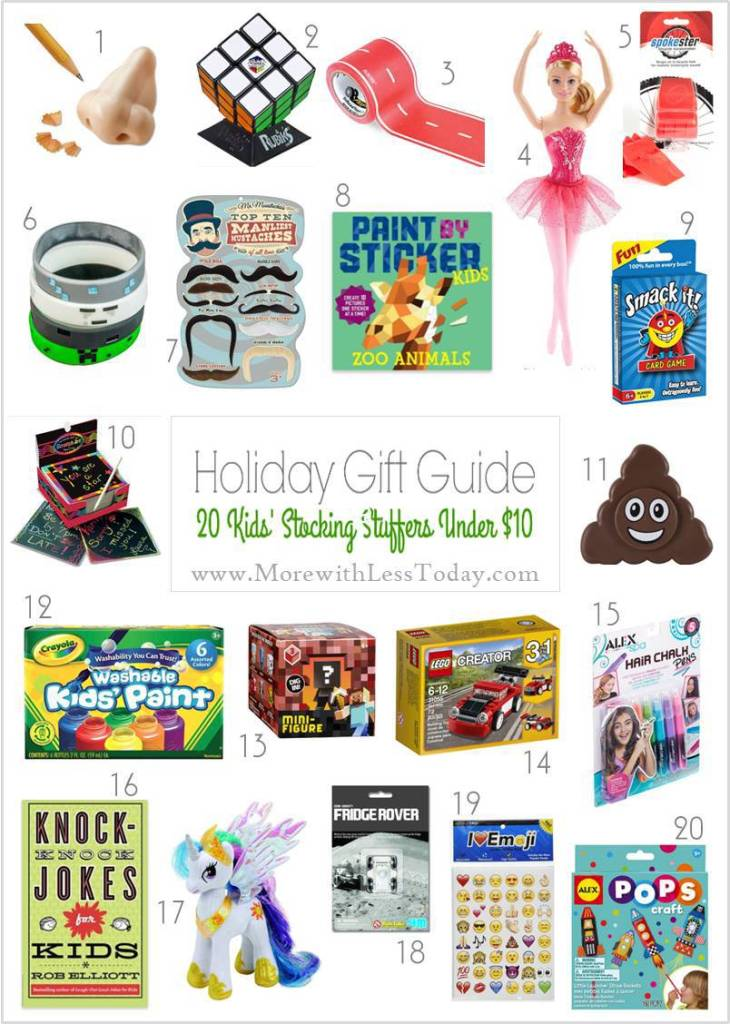 Want to fill their stockings without overspending? We found Stocking Stuffer Gifts Under $10 - Inexpensive Gift Ideas for Kids.