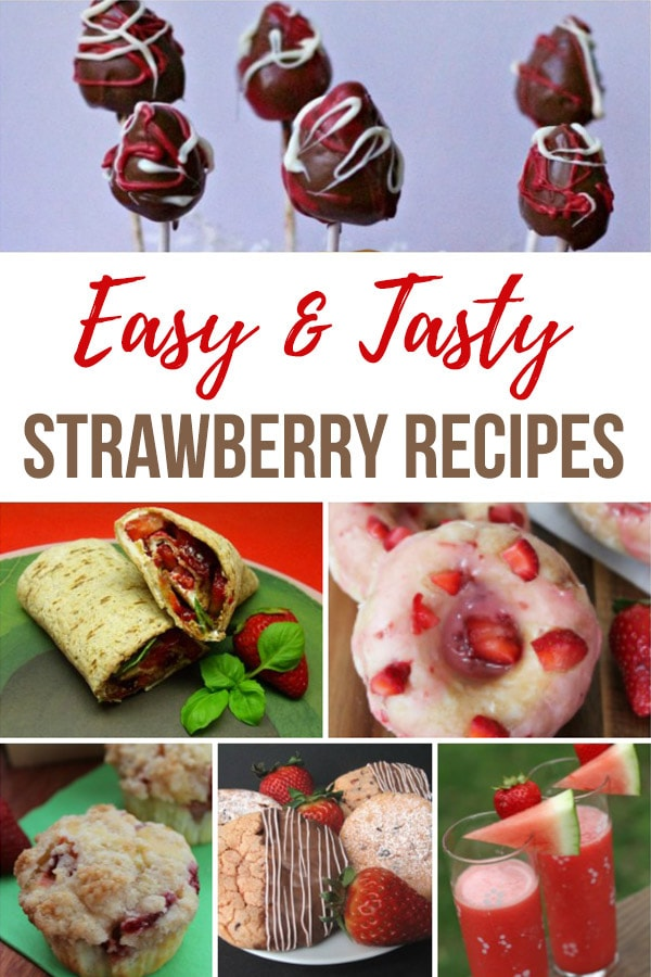 Wondering what to make with extra strawberries? We found 10 scrumptious strawberry recipes that everyone will love from top food bloggers. #strawberries #strawberryrecipes