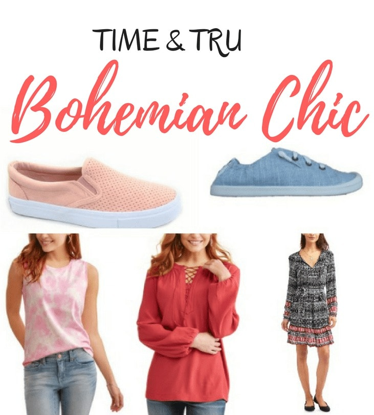 New! Time and Tru Collection - Bohemian Chic Style from Walmart. Have you seen the newTime & Tru collection at Walmart? It's affordable Bohemian Chic clothing for women and it is very popular!