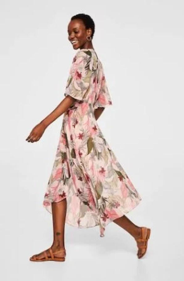 floral print maxi dress wedding guest dress