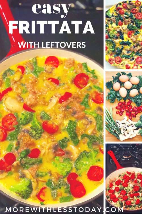 The Best and Easiest Frittata Recipe You'll Ever Make – Use Your Leftovers!