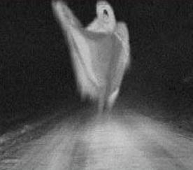 Fotomontaje de un fantasma