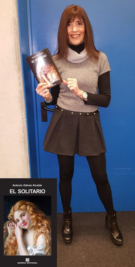 Virgínia Villarroya, con la novela titulada El solitario
