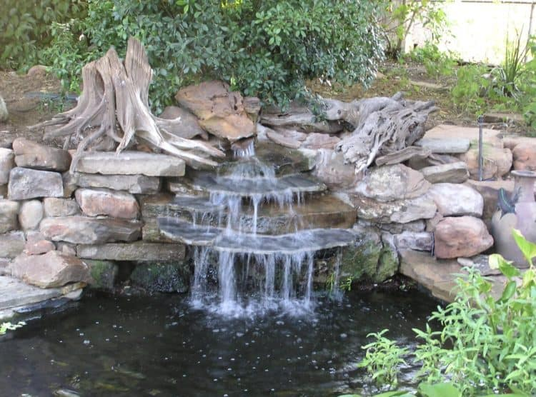 how to make a backyard waterfall