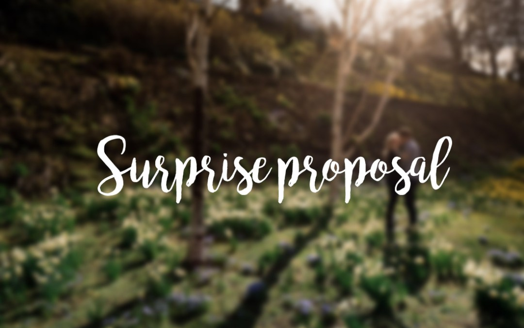 // A surprise proposal in Edinburgh