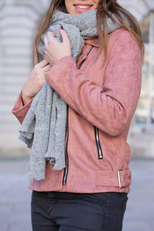 Blog mode Perfecto rose daim Morgane Pastel