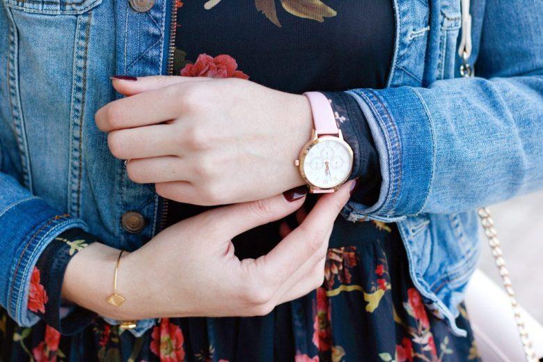 montre rose gold charlotte raffaelli