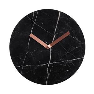 horloge marbre noir cuivre