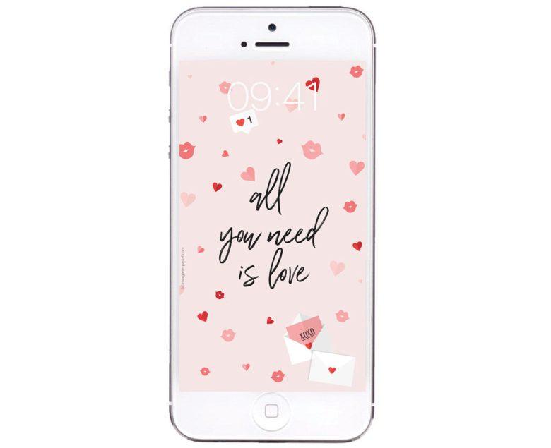 fond ecran gratuit love rose
