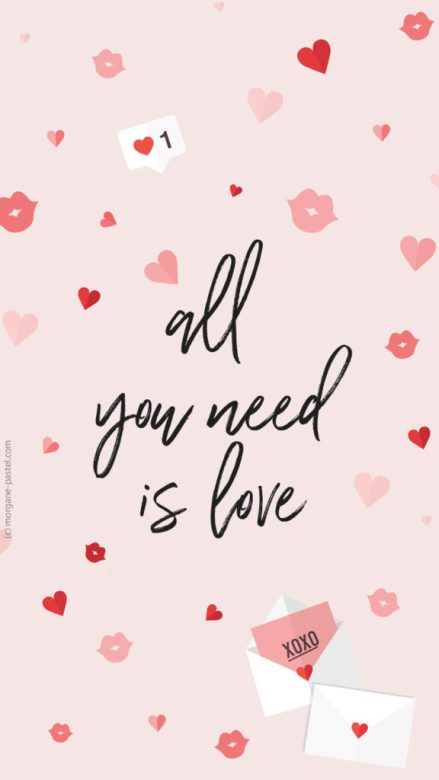 fond ecran fevrier all you need is love