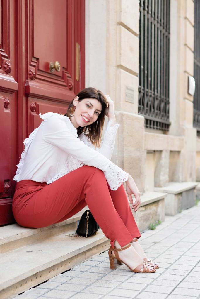 look blouse blanche broderie
