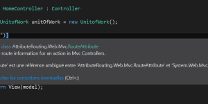 Ambiguïté entre les références de namespace