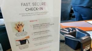 check-in scanner at University of Utah Orthopaedics