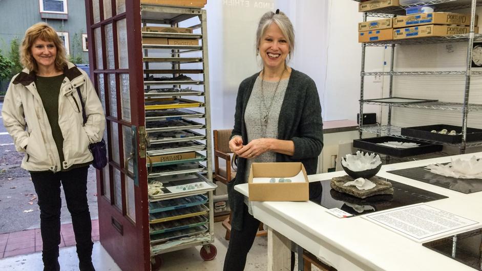 Linda Ethier in her studio