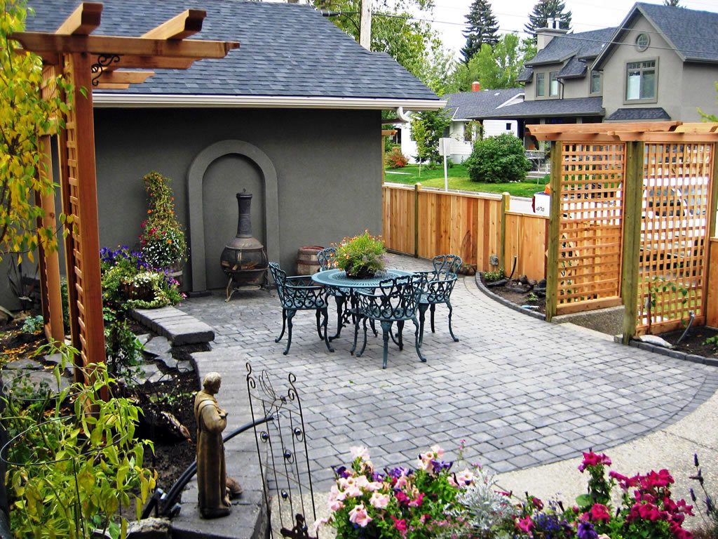 Custom Backyard on Calgary Infill - Morgan K Landscapes on Custom Backyard Designs id=30319