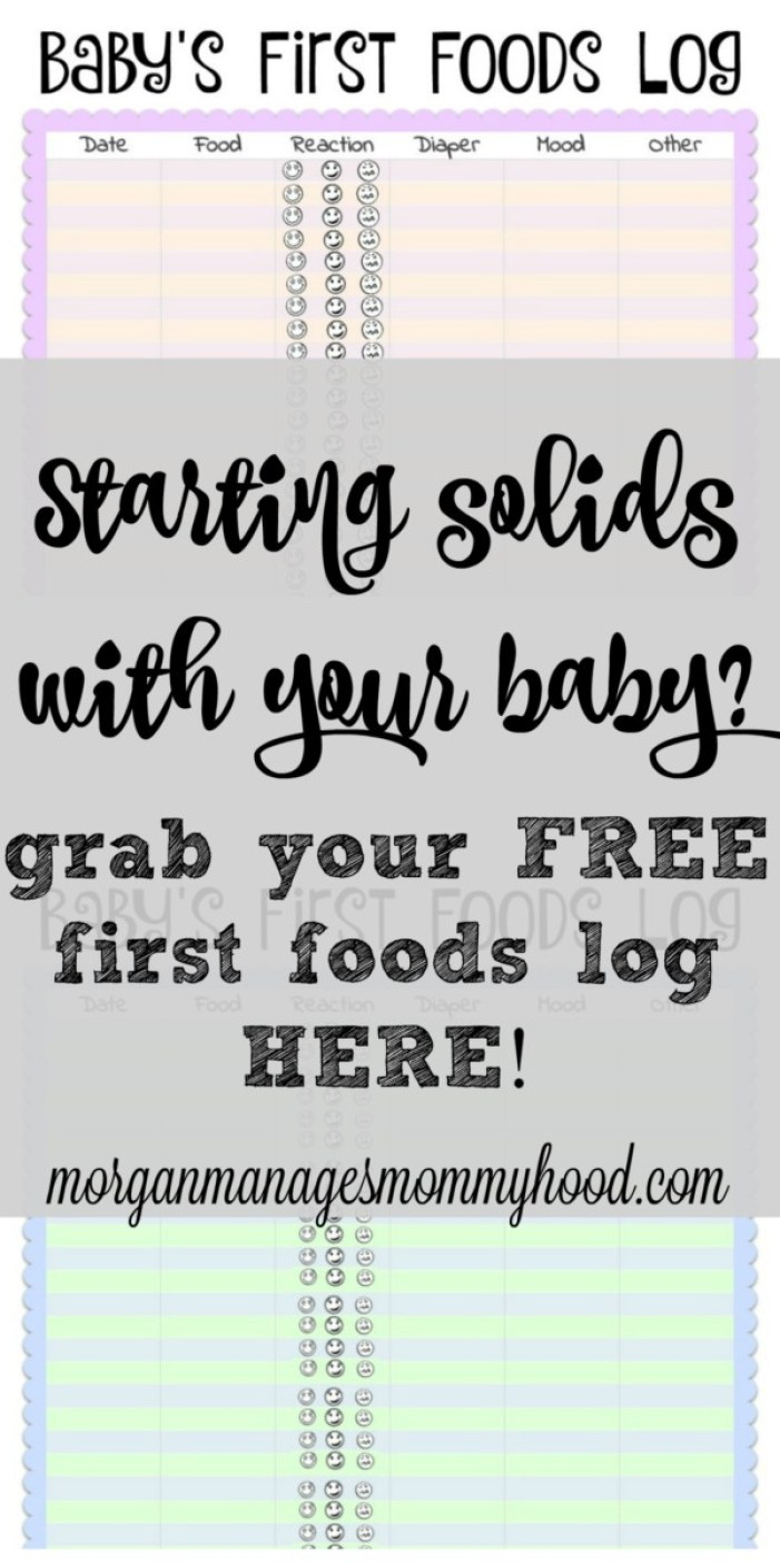 Looking for a fun way to keep track of what your baby has eaten so far as well how he reacted? These adorable baby's first foods logs are cute enough for the baby book, but also keep track of important information like how you baby felt later that day and diaper changes. Click through to find out how to get your free printables!