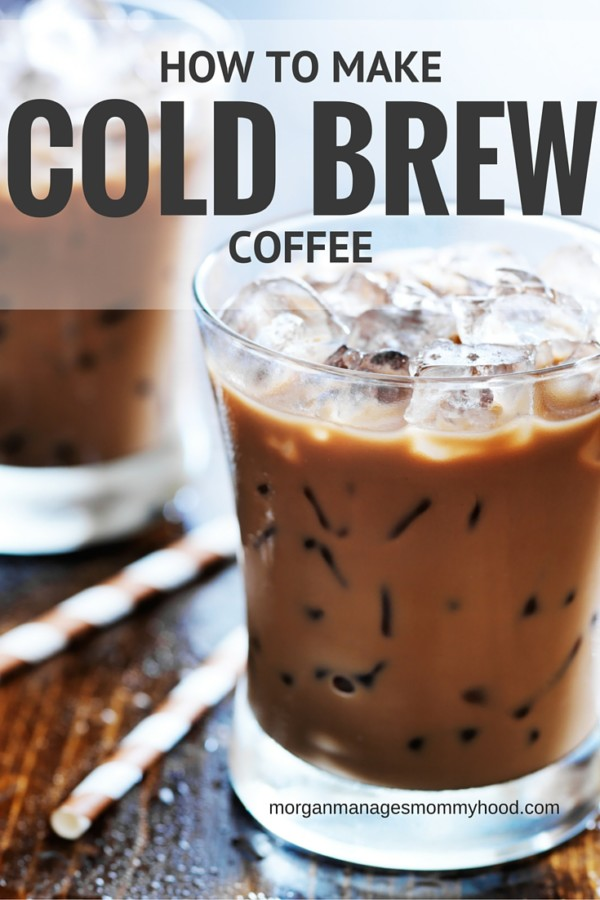 Cold brew coffee is an easy way to get your coffee fix each day - make it ahead of time and then fix to your liking, no machines required!