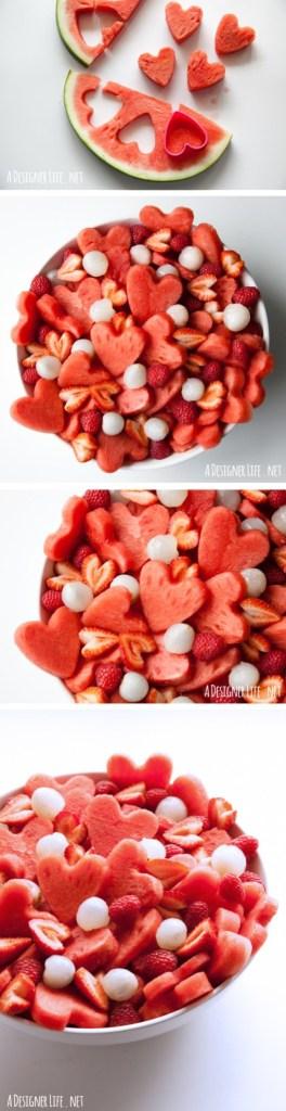 watermelon heart fruit salad