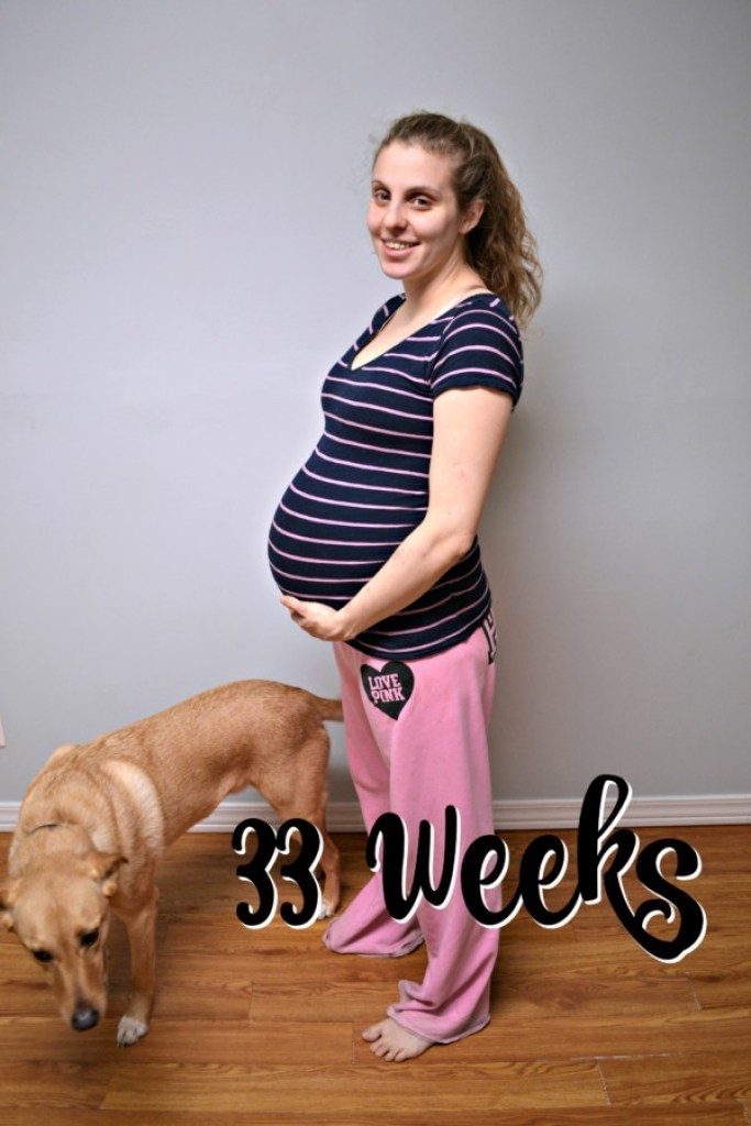 Check out what's new at 33 weeks pregnant!