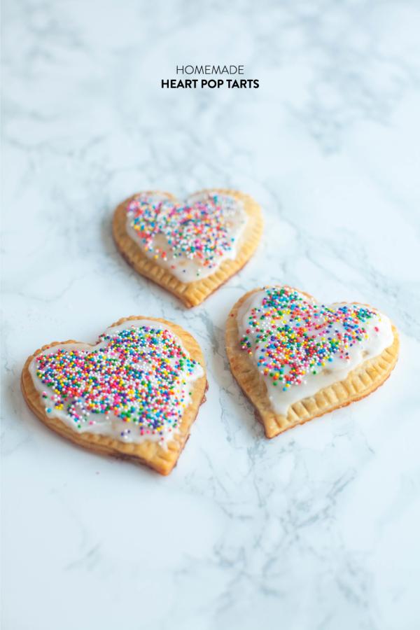 heart shaped food homemade pop tarts