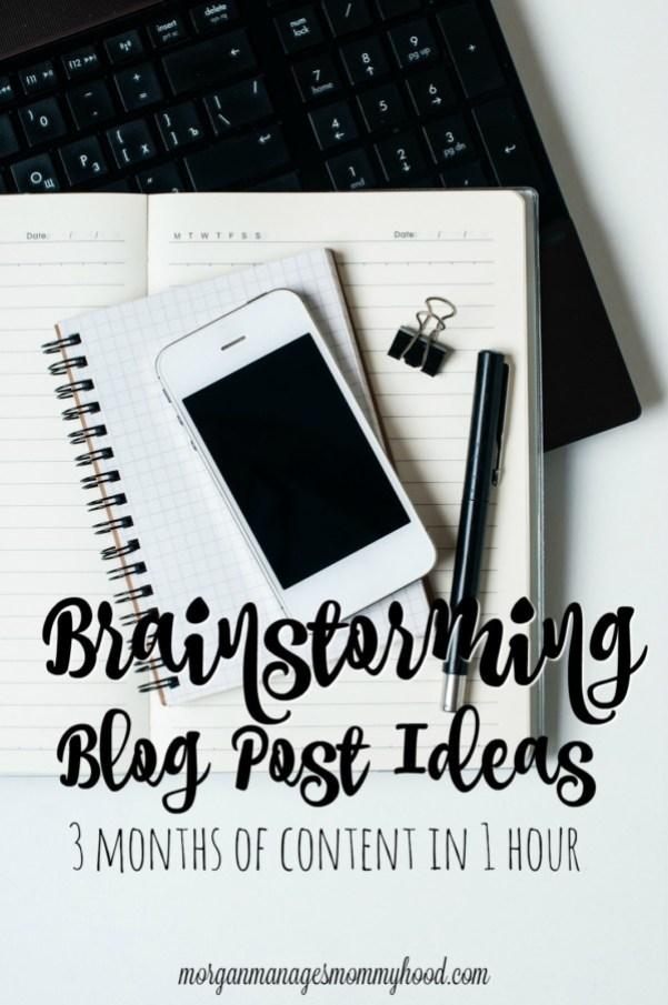 Brainstorming Blog Post Ideas