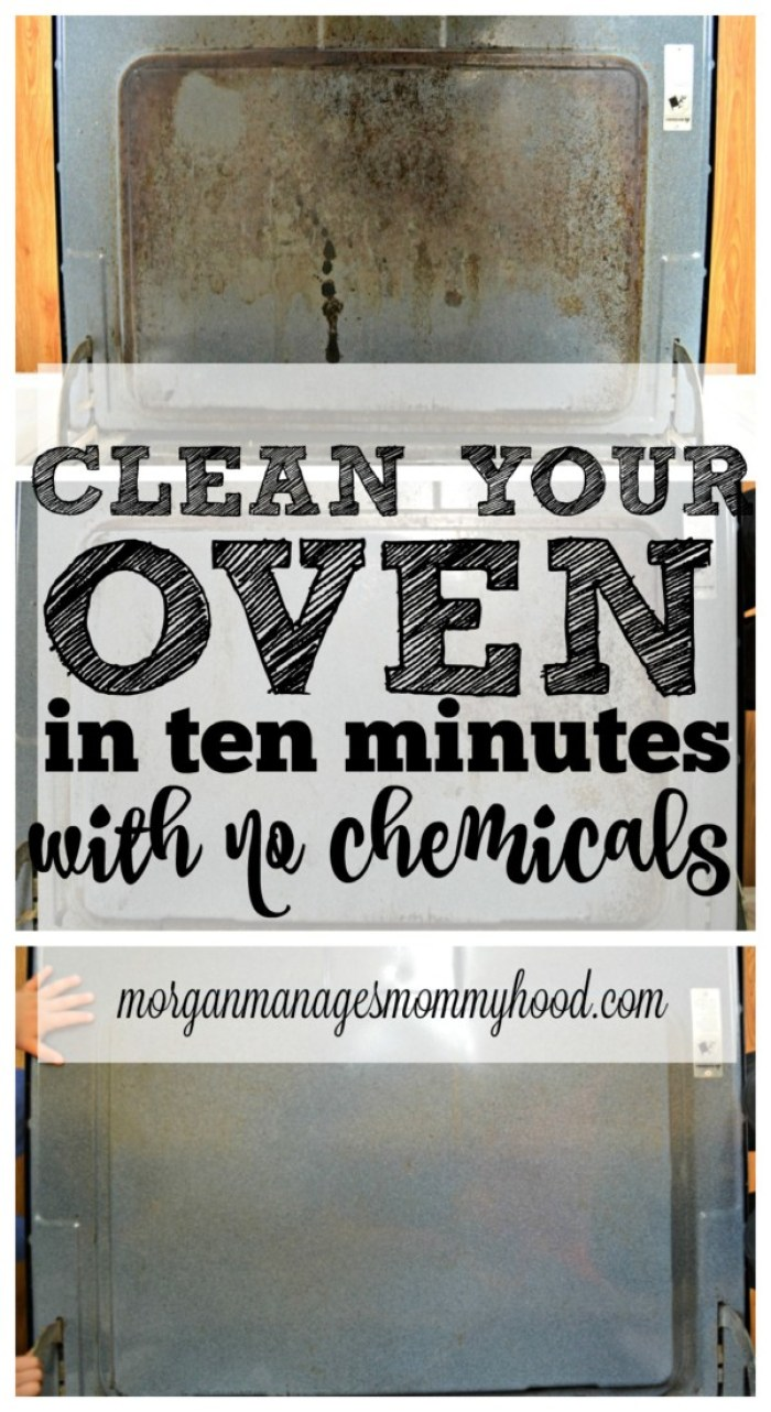 Have 10 minutes and a dirty oven? Check out how to get a clean oven without chemicals!