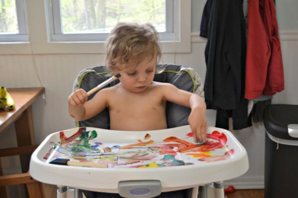 Painted Handprint Art Frames - Morgan Manages Mommyhood