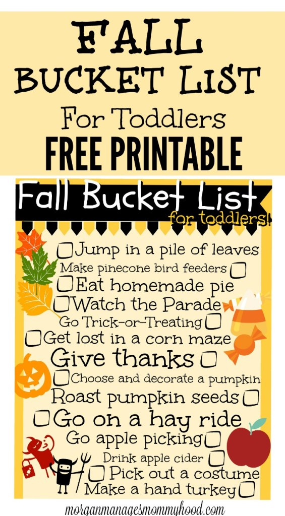 Looking for some fun things to do with your toddler this fall? Check out this Fall Bucket List for Toddlers and get inspired to take in all the season has to offer!