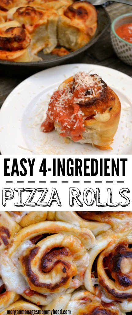 Looking for an easy weeknight dinner? These simple 4-ingredent pepperoni pizza rolls are bound to please even your pickiest eaters!