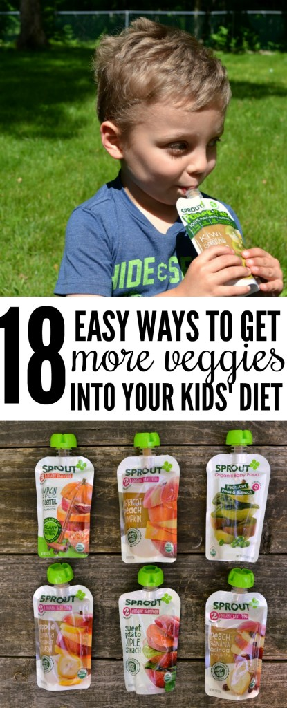 Getting your kids to have a balanced diet can be tough - read on to learn 18 ways to get more veggies into your kids' diets! [ad]