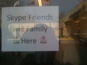 I know what Skype is.  But it still doesn't sound like a nice thing to do to your friends and family.
