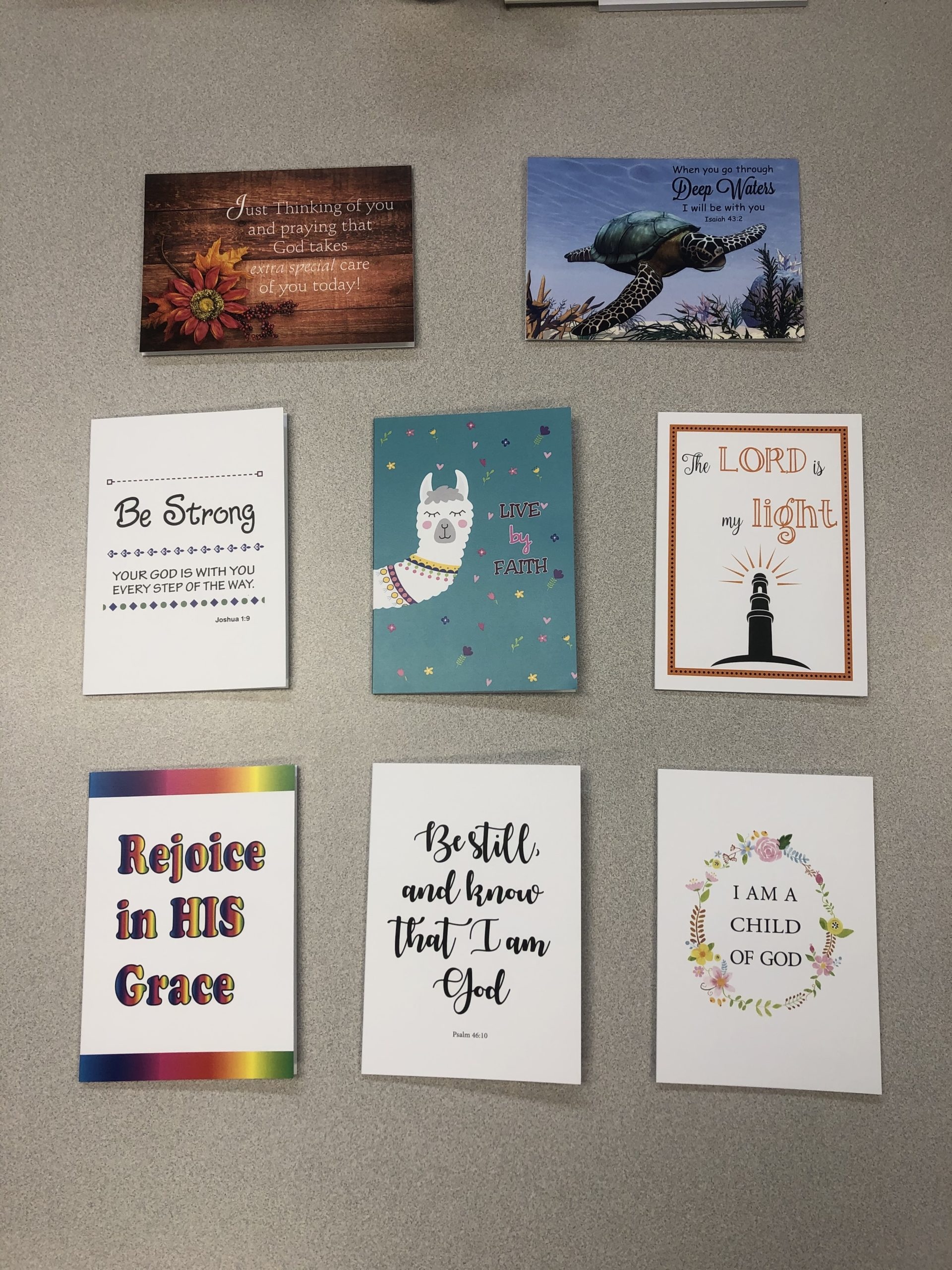 8 Pack of a variety of notecards