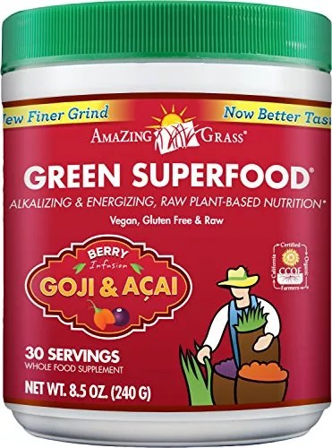 Amazing Grass Green SuperFood Berry, 30 Servings, 8.5 Ounces