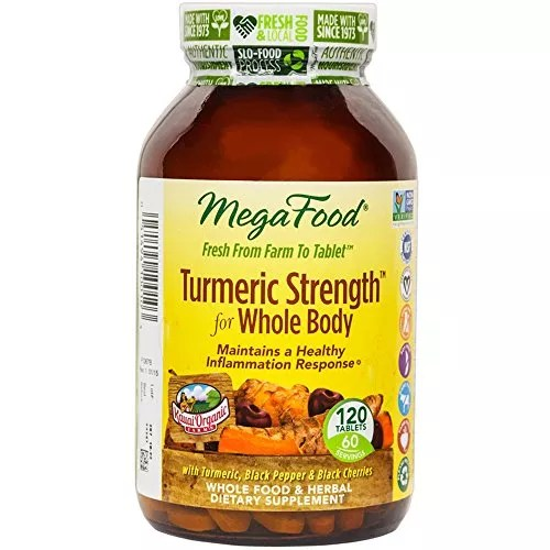 MegaFood – Turmeric Strength for Whole Body, Supports Healthy Aging, 120 Tablets (FFP)