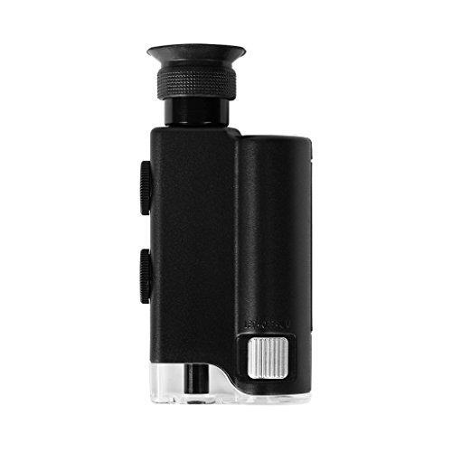 Newcomdigi 200-240X LED UV Light Pocket Microscope,Pocket-Sized Microscope,Find the Universe of Small Stuff All Around Us