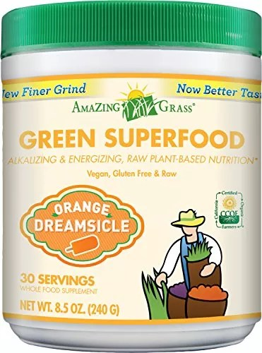 Amazing Grass Green Superfood Orange Dreamsicle, 30 Servings, 8.5 Ounces