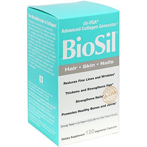 BioSil – Hair, Skin, Nails, Advanced Collagen Support, 120 Vegetarian Capsules