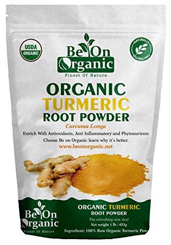 Be On Organic Organic Turmeric Root Powder, Curcuma Longa (Indian Haldi), 1 lb