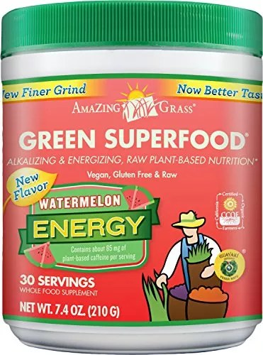 Amazing Grass Green Superfood Energy Watermelon, 30 Servings, 7.4 Ounces
