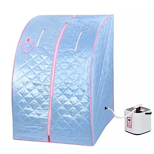 Blue 2L Portable Home Steam Sauna Spa Slimming Full Body Detox Therapy Loss Weight