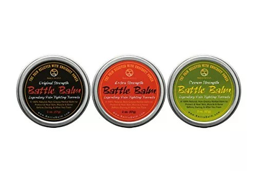 Battle Balm - Demon Strength - Natural Herbal Pain Relief for Arthritis,  Sciatica, Back, Neck, Leg, Shoulder - Also Relieves and Workout Soreness (2