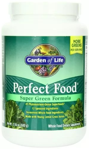 Garden of Life Whole Food Vegetable Supplement – Perfect Food Green Superfood Dietary Powder, 600g