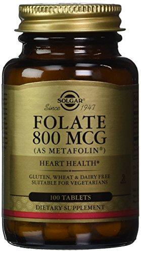 Folate 800 mcg (as Metafolin) Solgar 100 Tabs
