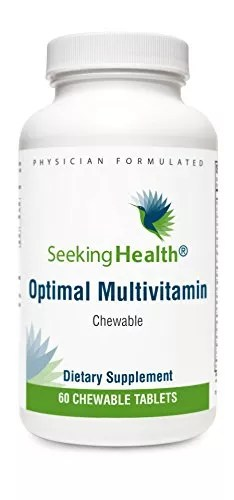 Optimal Multivitamin Chewable | 60 Chewable Tablets | Seeking Health