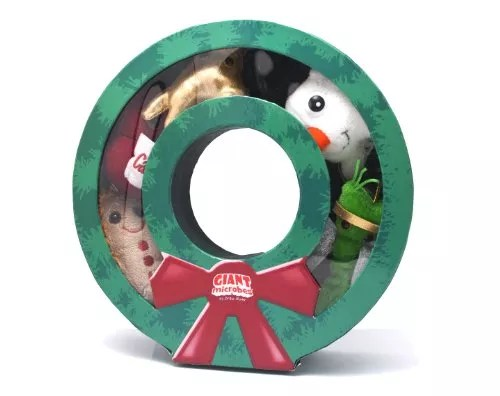 GIANTmicrobes Christmas Wreath Box Ornaments