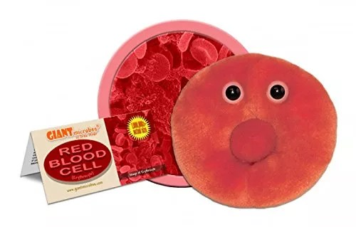 Giant Microbes 5″-7″ Red Blood Cell Erythrocyte Microbe Plush Toy