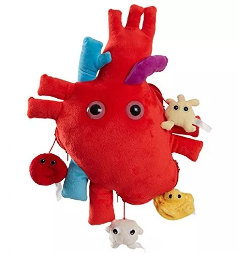 GIANTmicrobes – Heart (Heart Organ) XL Size with Minis