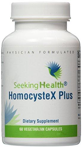 HomocysteX Plus   Provides Vitamins B2, B6, B12, Folate And TMG   60 Vegetarian Capsules   Physician Formulated   Seeking Health